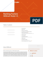 SEMrush Ranking Factors Study 2 0