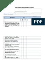 Lista de Chequeo de Procedimientos de Hospitalización