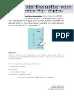 Ejercicio 1 de Fuerzas en Placas Sumergidas (Quiz, Septiembre-2018)