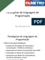 Paradigmas de Linguagem de Programação - Aula 01 - Marcelo