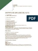 San Jose Del Alto.