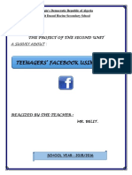 Survey on Teenagers' Facebook Using Habits.