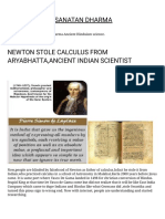 Newton Stole Calculus From Aryabhatta,Ancient Indian Scientist Hinduism and Sanatan Dharma