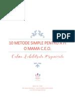 Ghid 10 Metode de a Fi o Mama CEO
