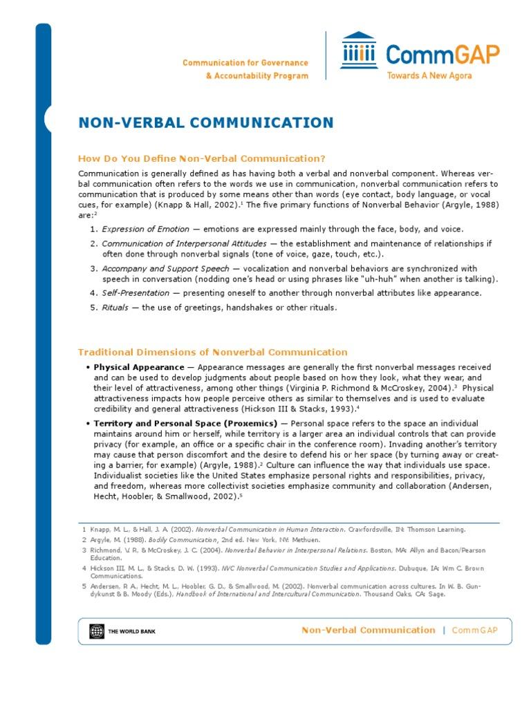 Nonverbal Comm Web Nonverbal Communication Interpersonal