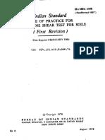 Is 4434 - 1978 in Situ Vane Shear Test for Soils