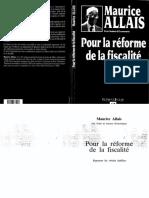 Allais Maurice - Pour La Réforme de La Fiscalité