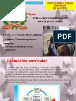 Evaluacion Curricular en Escuelas Unitarias