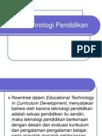 Filosofi Tehnologi Pendidikan