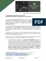 No más muertes viales - carta a Andrés Manuel López Obrador y autoridades responsables de seguridad vial en México