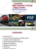 Day 2 Workshop 6 National Regulations Karen Tarr - Canadian Unmanned Aircraft Systems Regulations