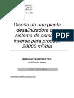 COLOMINA - Diseño de un planta desalinizadora con sistema de osmosis inversa con producción de 20....pdf