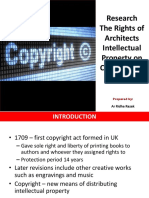 Research the Rights of Architects on Copyright in Malaysia by Ar Ridha Razak