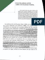 Javier Bello - Unas Pocas Palabras Antes Del Primer Libro de Soledad Fariña