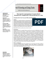 Therapeutic management of generalized demodicosis complicated with pyoderma in a dog