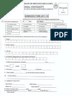 DDE Admission Form2017