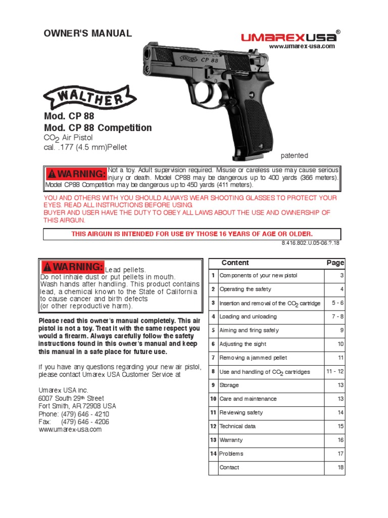 walther cp88 trigger firearms cartridge firearms rh scribd com Walther CP88 Next to 1911 Walther P48