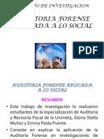 Auditoria Forense Aplicada a Lo Social