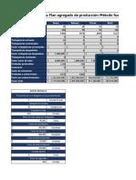 Plantilla Plan Agregado de Producción Método de Fuerza de Trabajo Mínima Con Subcontratación