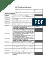 IHS HIPAA Security Checklist