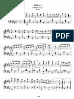 Brahms  - Waltz op 39 simplified for piano