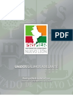 Primer Informe de Gobierno - Administración 2009-2015 | Documento narrativo