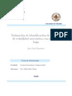 Estimacion e Identificacion de Modelos de Volatilidad