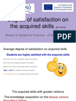 BIS Erasmus Project Student Degree of Satisfaction on the Acquired Skills (2017-2018)
