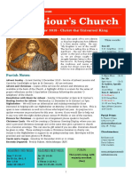 st saviours newsletter - 25 november 2018