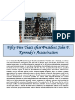 Fifty Five Years after  President John F. Kennedy's Assassination