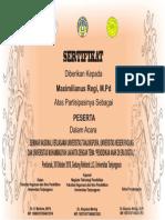 Contoh Sertifikat Dan Spanduk Seminar Docx