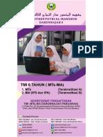 Brosur Pesantren Darunnajah 3 Al-Manshur Serang Banten 2018