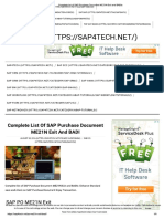 Complete List of SAP Purchasing Enhancements