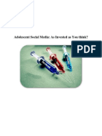 Statistical Research and Analysis of Social Media in Youth