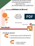 Trabalho sobre biodisponibilidade de minerais