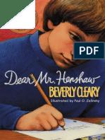[Beverly Cleary] Dear Mr. Henshaw (Rpkg) (Avon Cam(BookSee.org).en.es