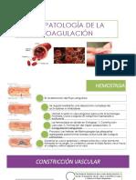 Fisiopatología de La Coagulación