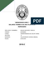 1ERA MONOGRAFIA DE TRANSFERENCIA DE CALOR Y MASA