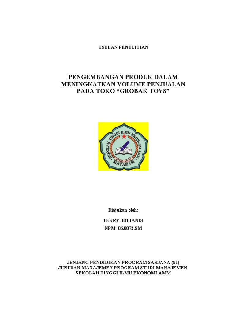 Proposal Seminar Skripsi Pengembangan Produk