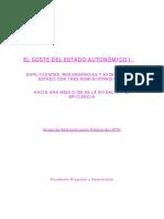 Coste del Estado Autonómico español (Fundación Progreso y Democracia)
