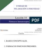 Lección 14. Fármacos Inmunosupresores