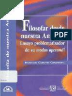 Filosofar Desde America-Horacio Cerutti