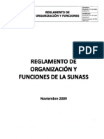 reglamento organizaciones sunass
