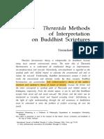 Theravada Methods of Intepretation on Buddhist Scriptures