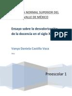 ENSAYO SOBRE DESVALORIZACION DE LA DOCENCIA EN EL SIGLO  XXI.docx