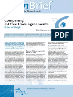 EU free trade agreements rules of origin