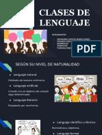 Clases de Lenguaje