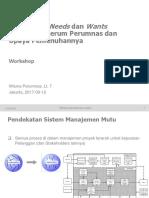 002PRm Workshop CustomerReq R0