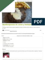 Hamburguesas de Carne y Lentejas Receta de Giu Nicole Moreno - Cookpad