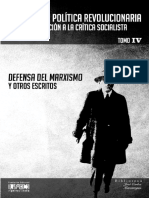 Defensa Del Marxismo y Otros Escritos